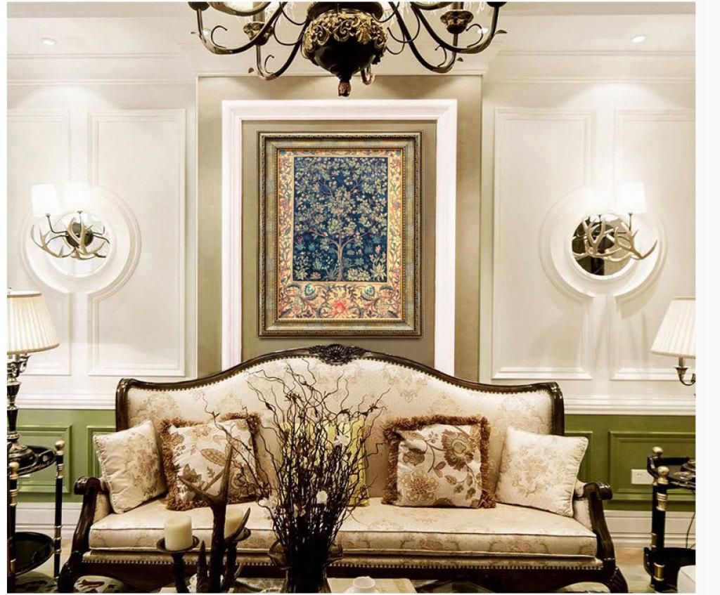 美式装饰画批发欧式客厅玄关大气壁画 挂画 樵家画苑油画