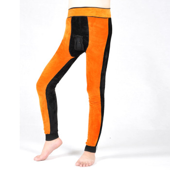 A man thick warm pants waist one gold pants with cashmere waist knee thickening