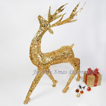 2015 Top Sale Christmas  Metal Crafts  Decoration Reindeer Indoor Home Decoration