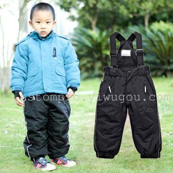 Gucci children baby fashion warm thickening mois genuine special ski pants