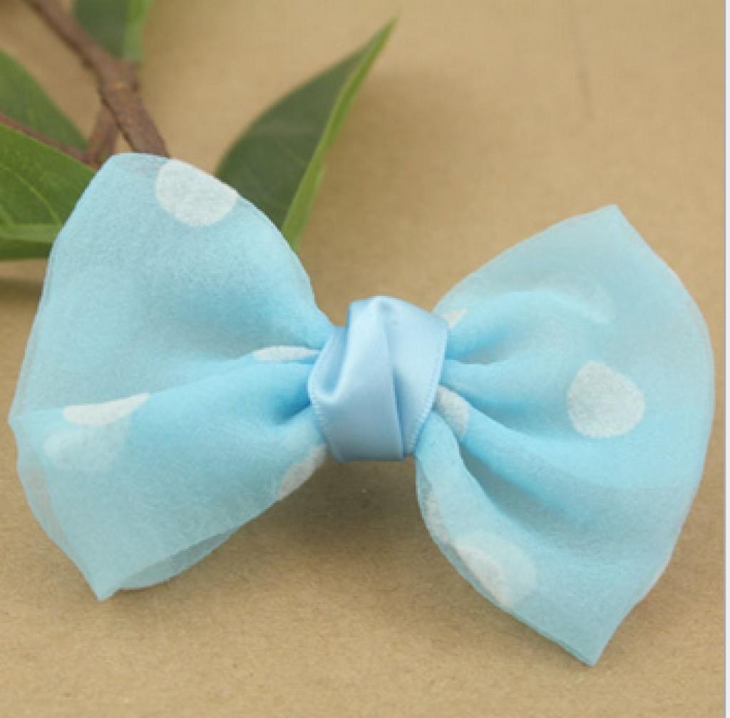 手工点点款可爱蝴蝶结 儿童发饰 鞋花装饰材料