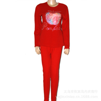 Ladies body body thermal underwear set comfortable warm thick and fat burning fever for fall/winter fleece