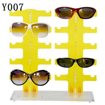 Counter type detachable double glasses frame display shelf transparent eyes