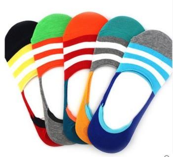 Korean men's stealth pumps, boat socks socks spring/summer thin silicone non-slip socks bamboo socks 1 pair of postage