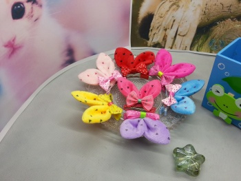 The new heart Christmas children's three - dimensional clip accessories double rabbit ears hairpin.