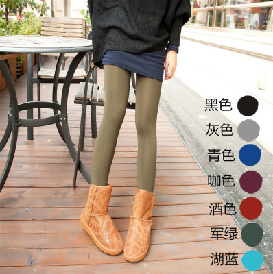 The spring and Autumn period through meat and cashmere hosiery conjoined Double thick warm stocs Yiwu super selling