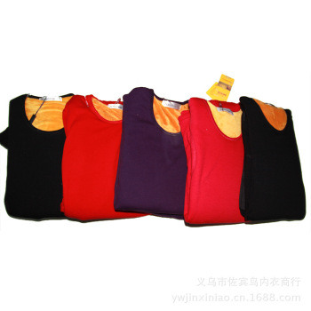Super soft thickened gold thermal underwear set and velvet Lady bamboo fiber thermal suit