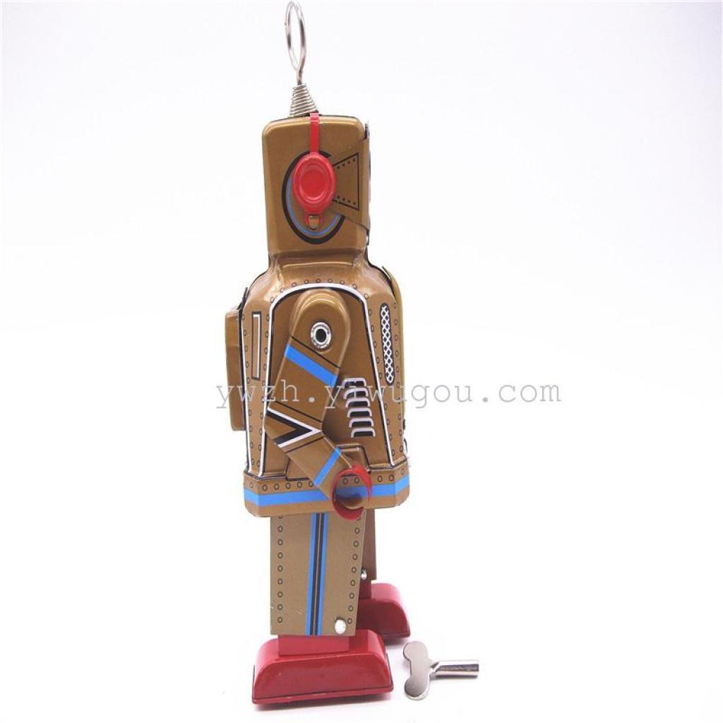 上弦玩具铁皮机器人儿童玩具上链机械复古玩具
