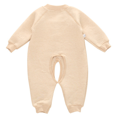 Autumn and winter thickened cotton baby clothes cotton organic cotton Jumpsuit