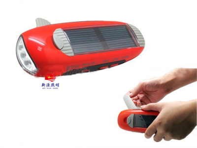 Multifunctional hand dynamo solar charger solar flashlight charger charging
