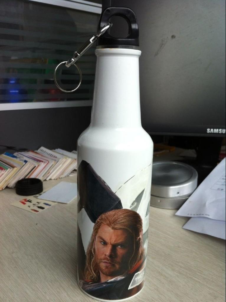 铝制运动水壶450ml    酒瓶款  酒壶