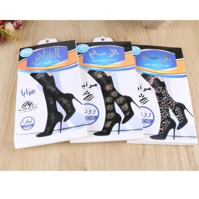 Silk stockings genuine female summer fashion lace jacquard mesh core spun silk jacquard socks feel