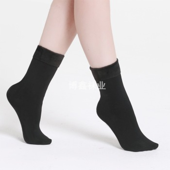 The winter heat value does not fall cashmere socks nylon floor socks with men and women cashmere thickening
