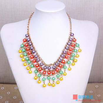 Short necklace fashion accessories and acrylic sweater chain, jewelry chain all-match clavicle exaggerated female