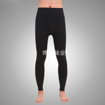 Super thick winter 2015 male long underwear plus velvet thickened pilling Mens thermal super soft cotton trousers long