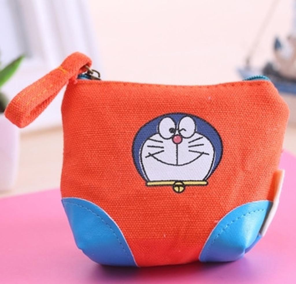 机器猫零钱包帆布钥匙包可爱哆啦a梦硬币包