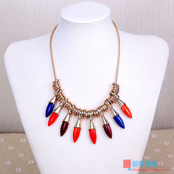 European short necklace fashion accessories chain all-match clavicle sweater chain jewelry exaggerated female