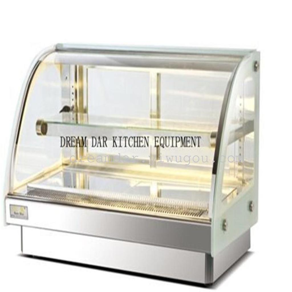 Supply Table top type hot cabinet cake display cabinet