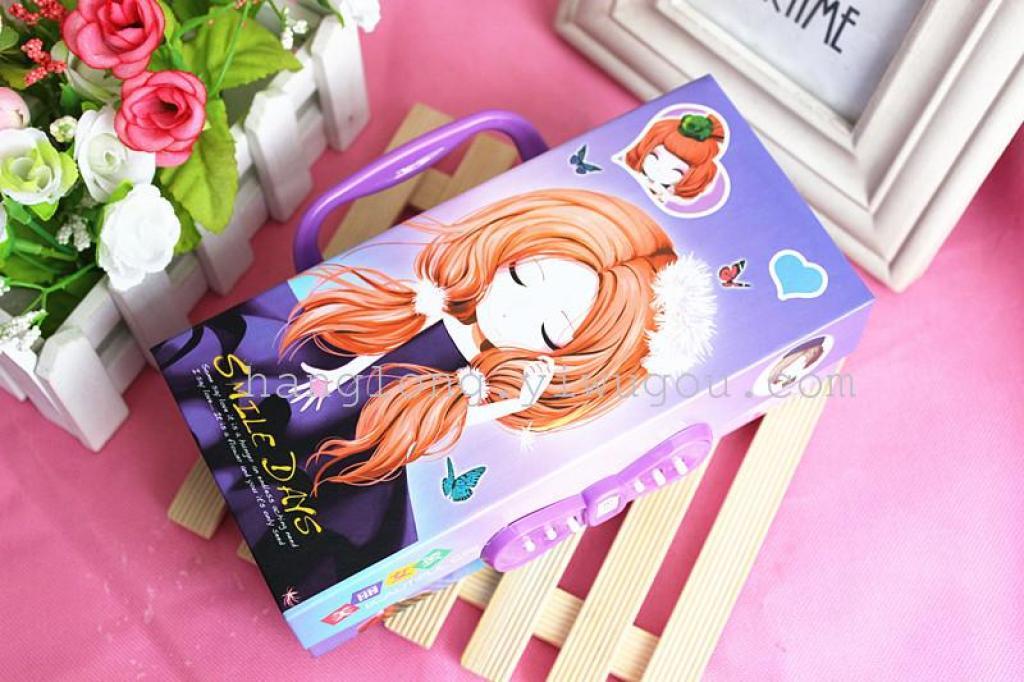 用纸折的女生文具盒_用纸折文具盒