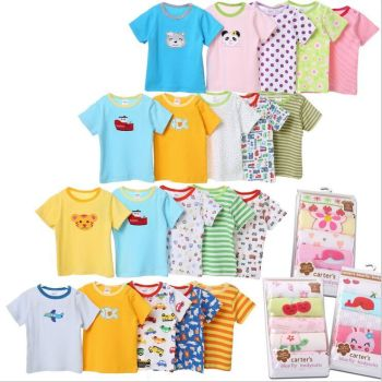 Summer Carter t-shirt carter's cotton baby kids infant baby dress baby clothes