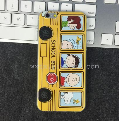 新款iphone6手机壳 校车巴士史努比可爱卡通tpu保护套
