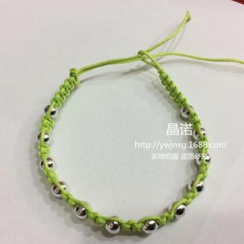 手工编织手链6m银珠