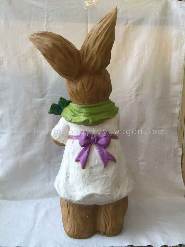 仿真兔子花园树脂工艺品摆件