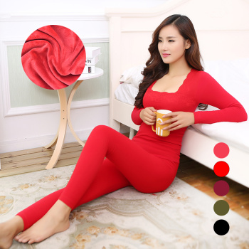 Ms. winter new seamless thermal underwear sets personal cashmere underwear with thickened one generation