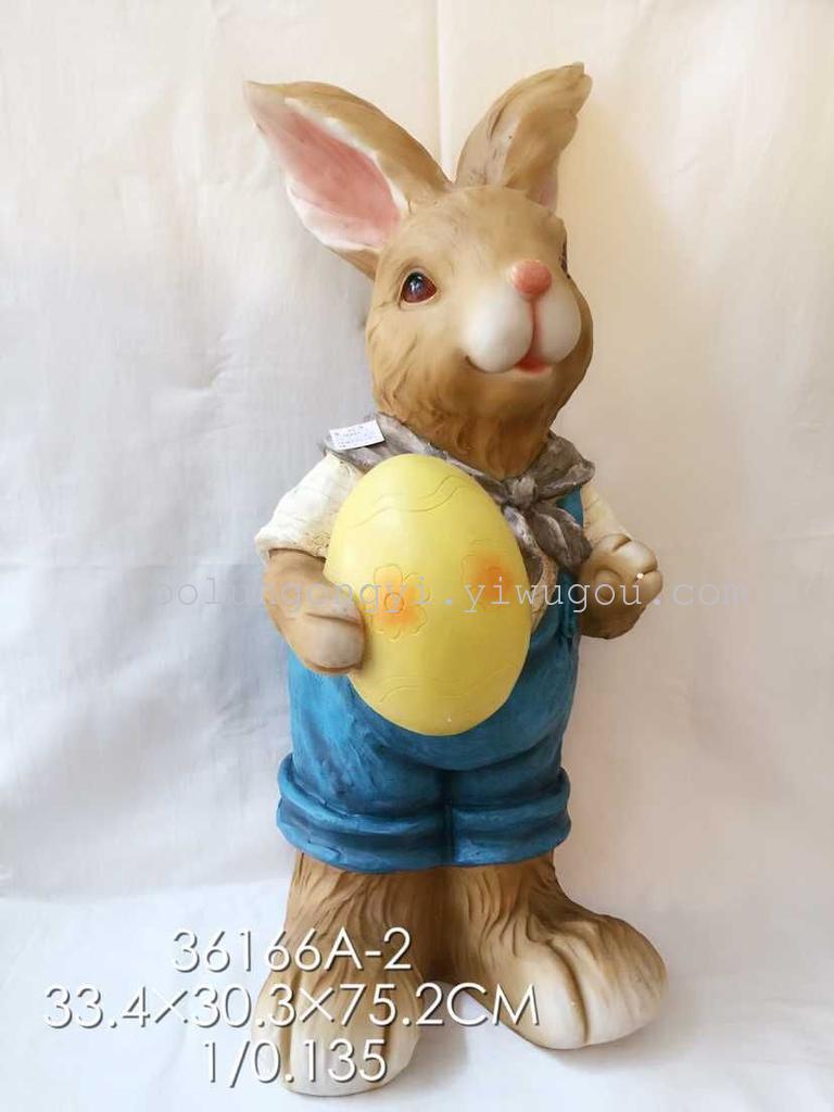 花园仿真兔子树脂工艺品摆件