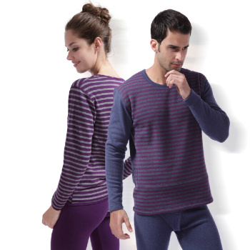 Factory direct thermal underwear, add thick, thick male warm suit stripe heat and magnetic underwear