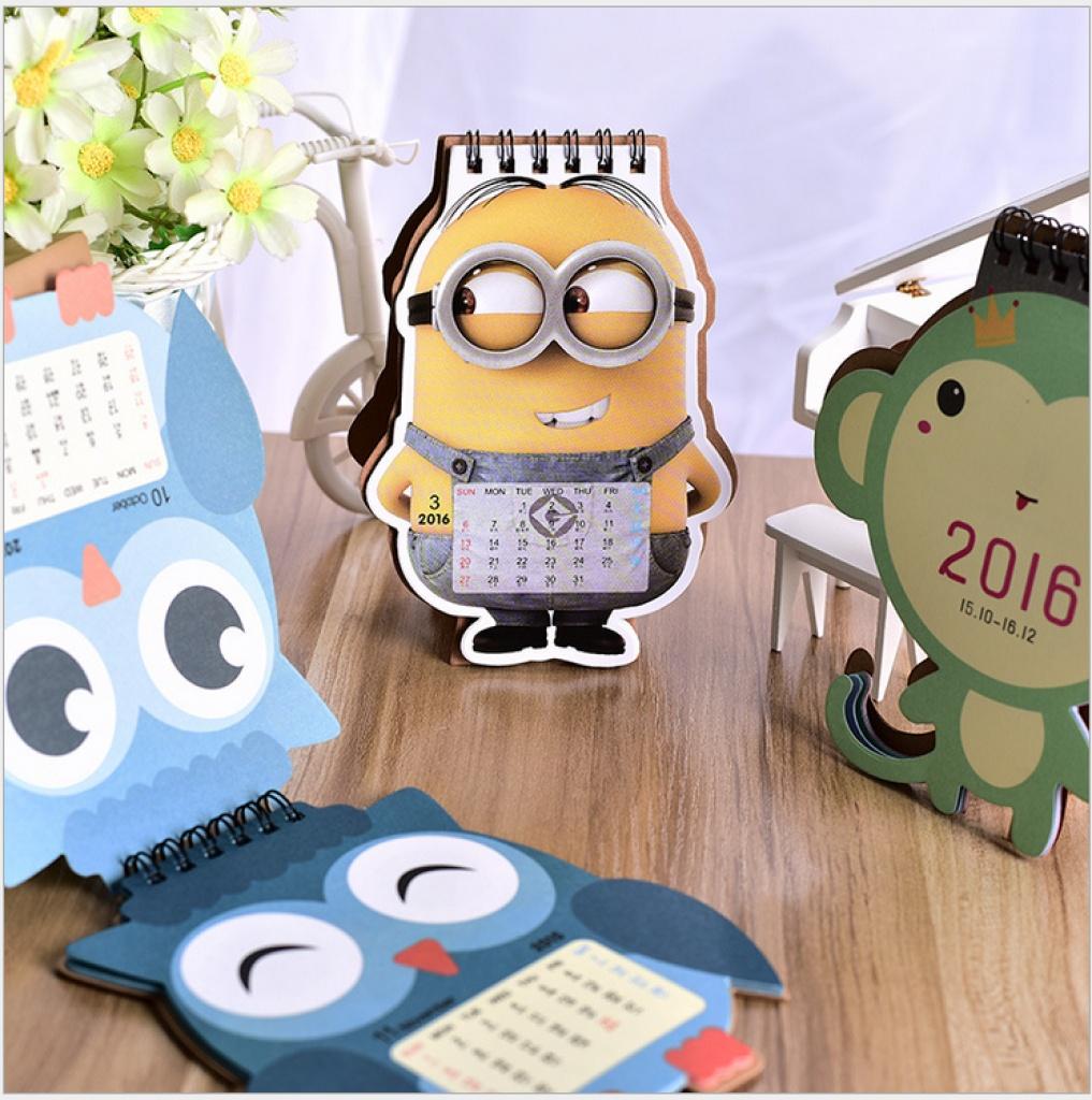 2016年台历 可爱小猴子/猫头鹰/小黄人