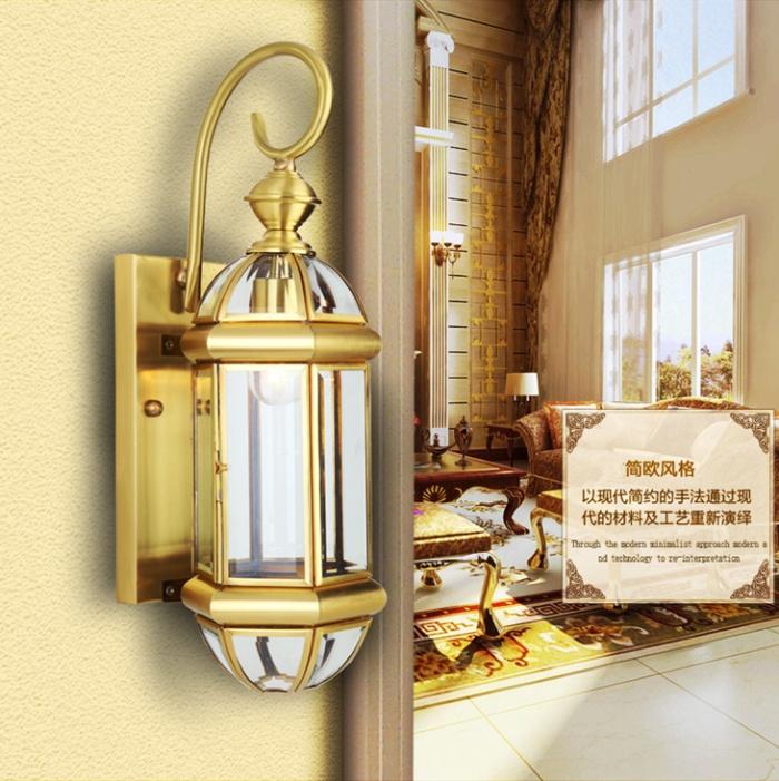 欧式复古铜灯壁灯门厅过道走廊灯阳台灯饰灯具单头灯