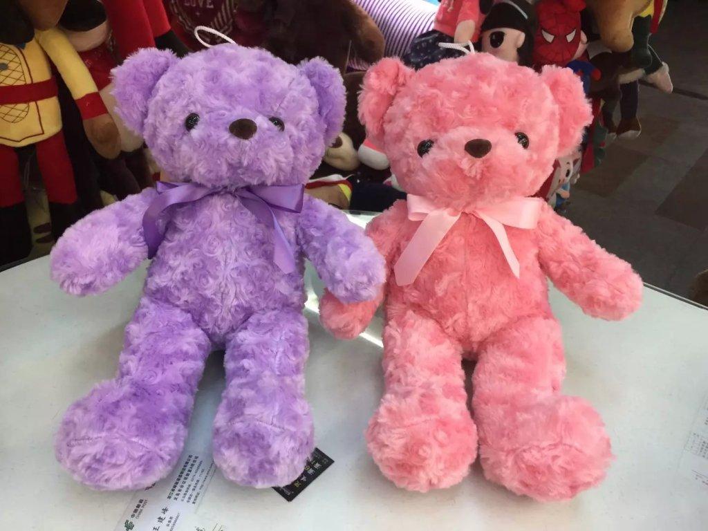 玫瑰小熊公仔 可爱毛绒玩具 女生礼物