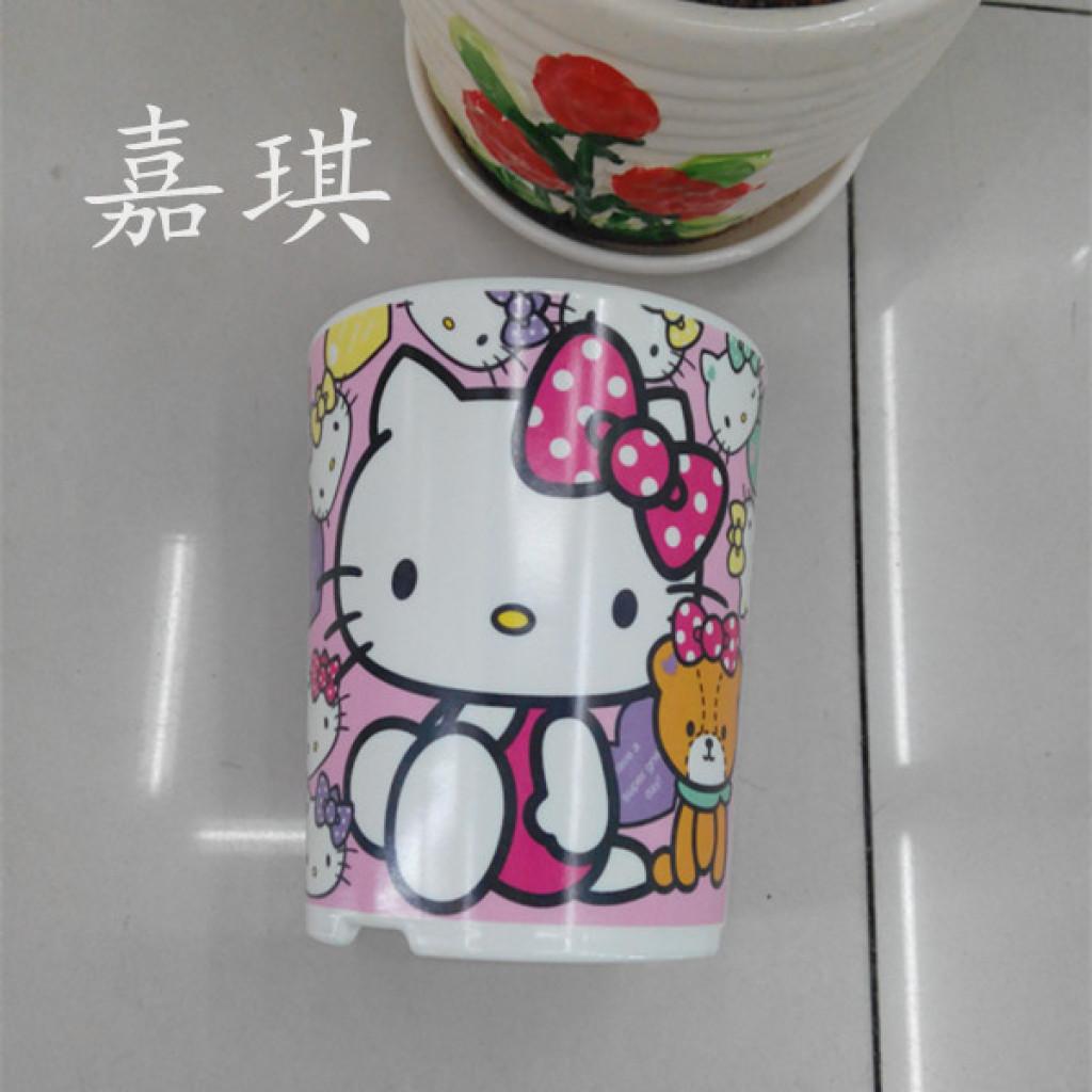 hollykitty 卡通儿童 筷子筒