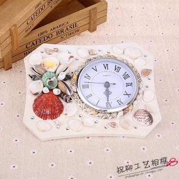 Creative shell of modern living room fashion watch clock clock Mediterranean shell art