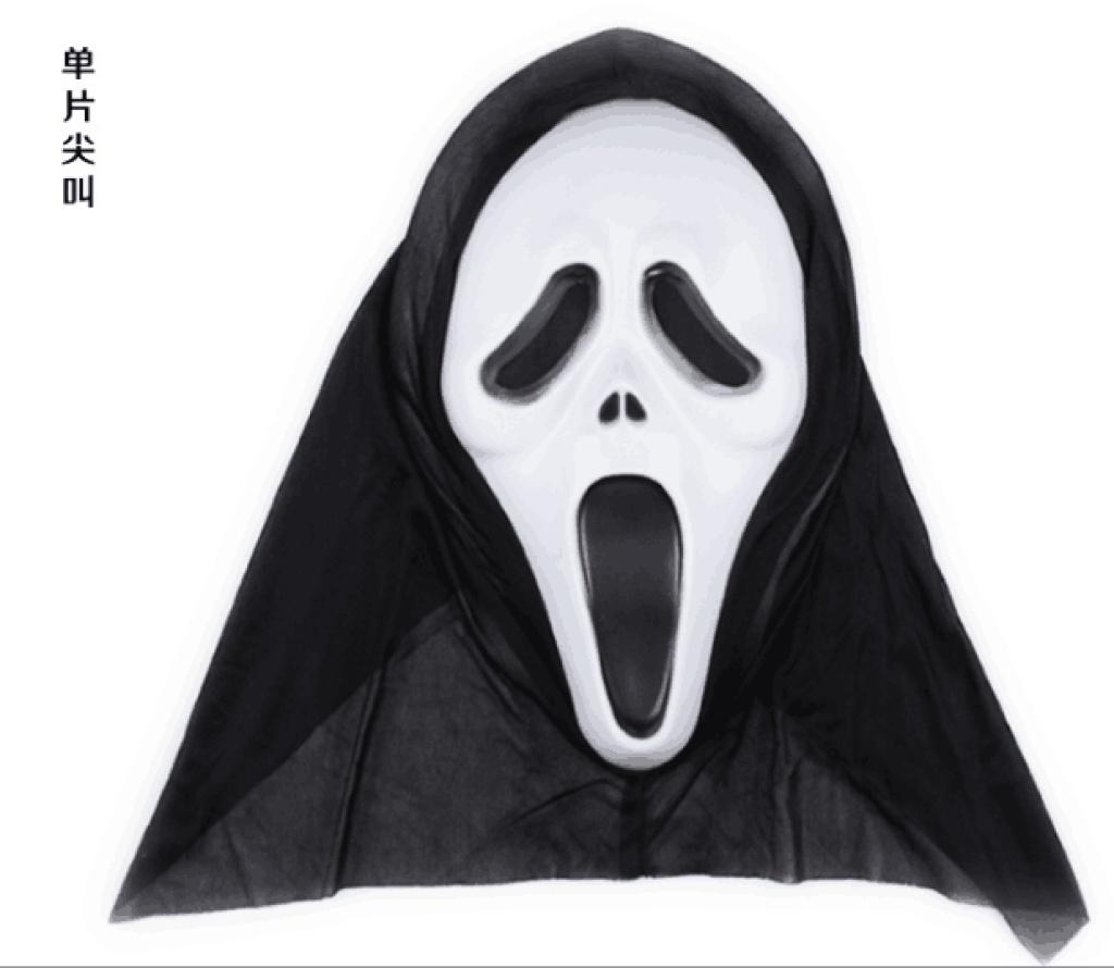 鬼面具混装 惊声尖叫舞会 骷髅头面具恐怖白色脸万圣节_卓凡儿童文具