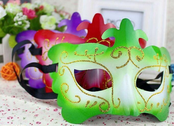 蝴蝶金粉面具 万圣节化妆舞会金粉面具半脸面具威尼斯小公主面具