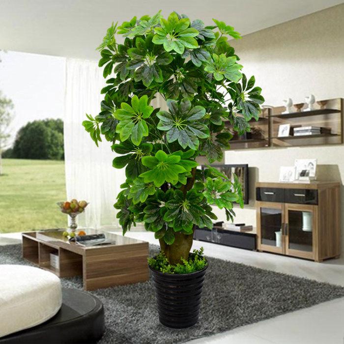 仿真发财树幸福树盆栽假树仿真植物树客厅装饰树大型