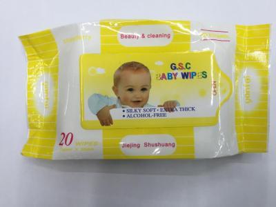 Baby wet towel 20 pieces.