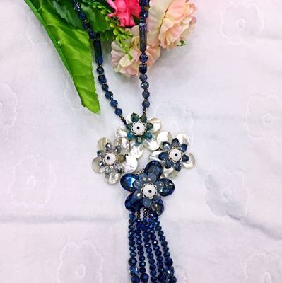 Shell flower necklace handmade jewelry wild personality long sweater chain