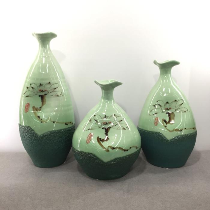 创意 简洁现代客厅摆件大三件套花瓶 8658_博闻陶艺
