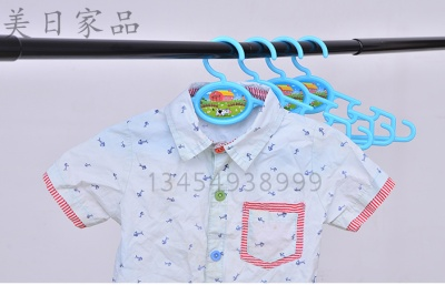 Japan KM.1148 cartoon child baby clothes airing hanger (4 Pack)