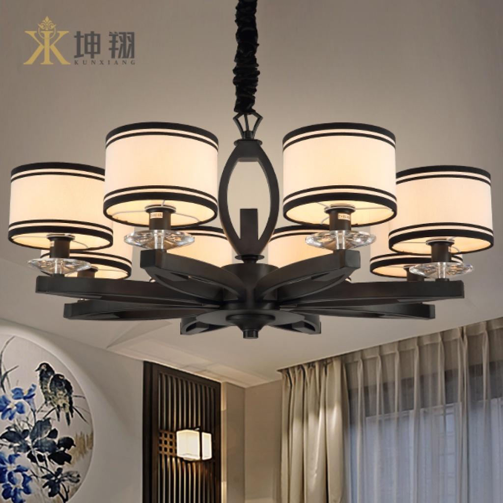 坤翔新中式铁艺吊灯客厅餐厅灯具