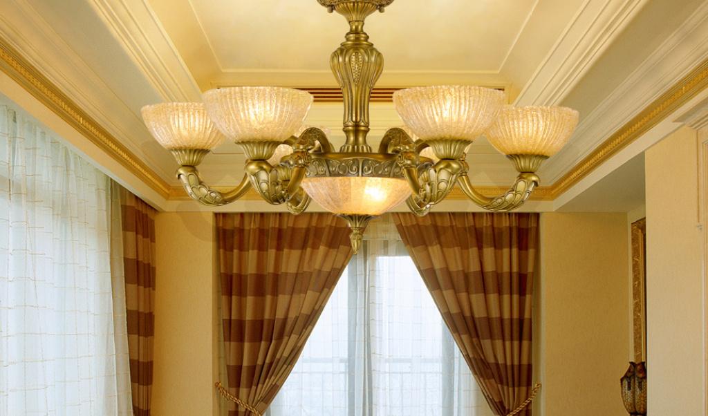 胜腾欧式客厅餐厅吊灯高档磨砂玻璃灯罩