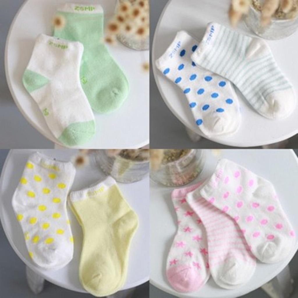 卓上棉品童袜 韩国可爱糖果男女宝宝袜纯棉短袜