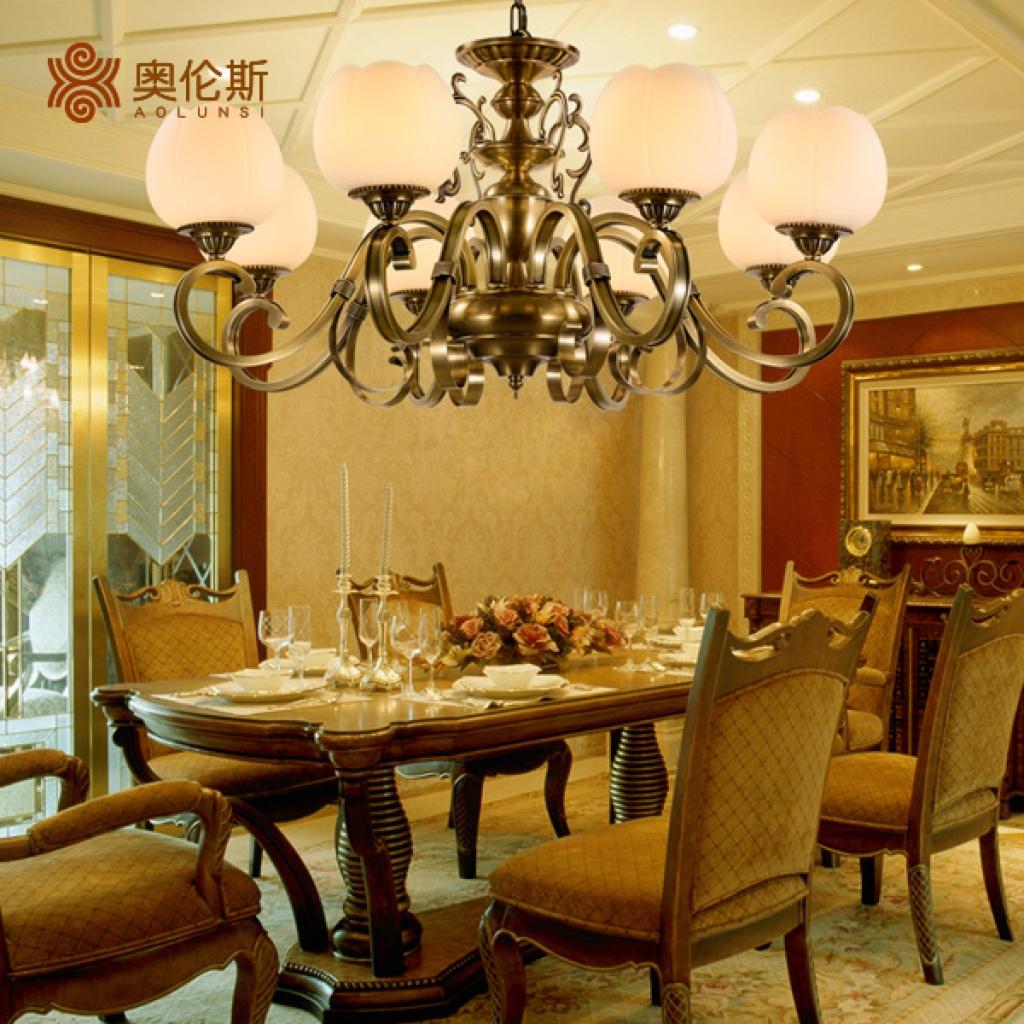 奥伦斯美式吊灯奢华客厅餐厅灯具图片