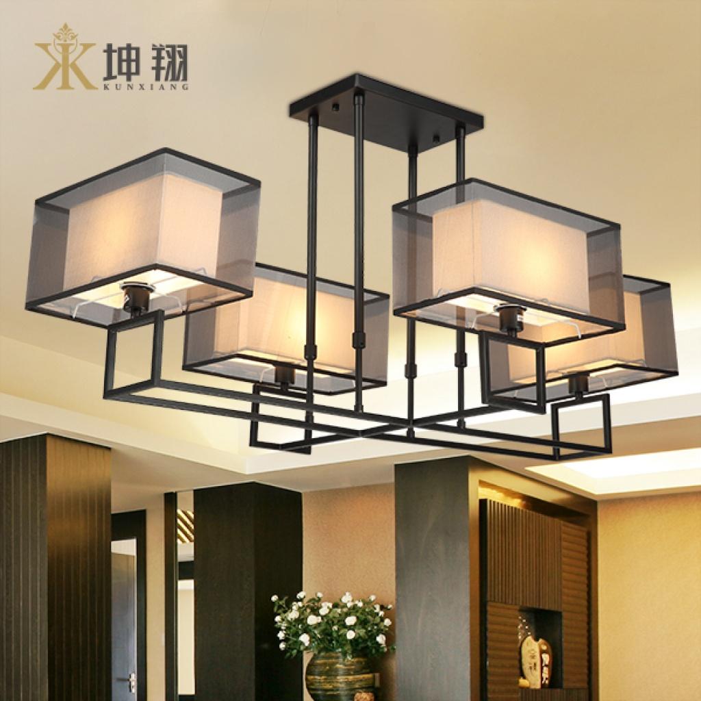 坤翔新中式鐵藝吊燈客廳餐廳燈具