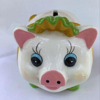 陶瓷彩色猪储蓄罐 手绘存钱罐