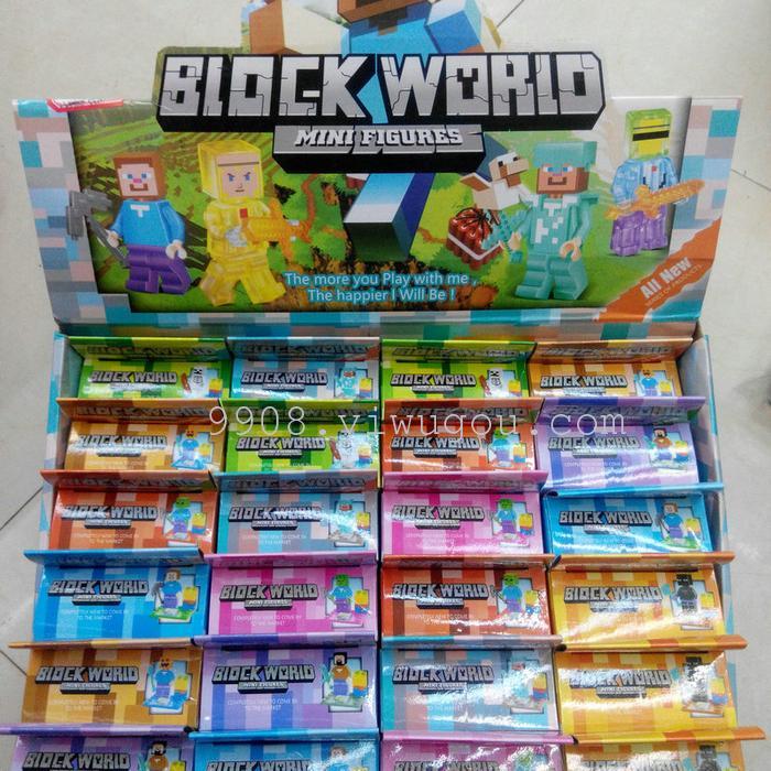 乐高式积木,我的世界展示盒