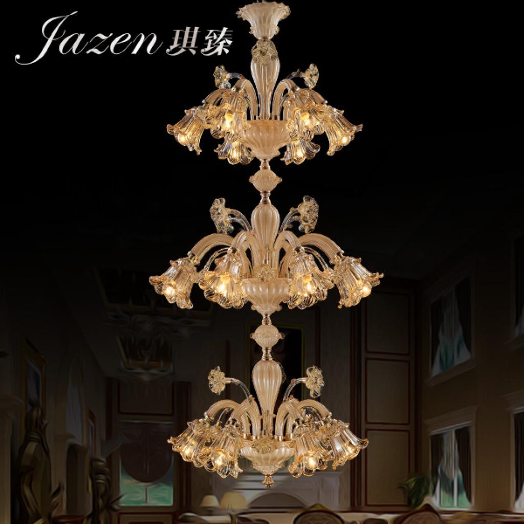 琪臻欧式现代奢华水晶吊灯创意客厅餐厅大堂灯